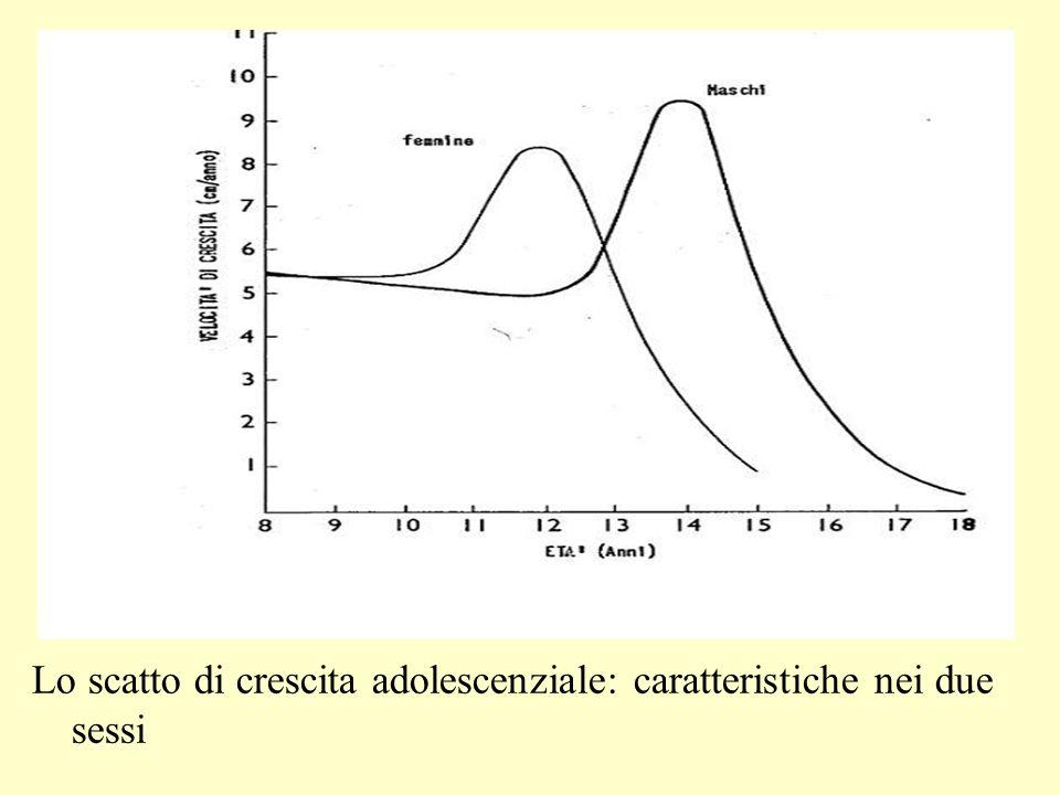 Lo scatto di crescita adolescenziale: caratteristiche nei due sessi