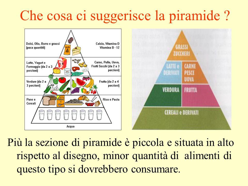 Che cosa ci suggerisce la piramide .