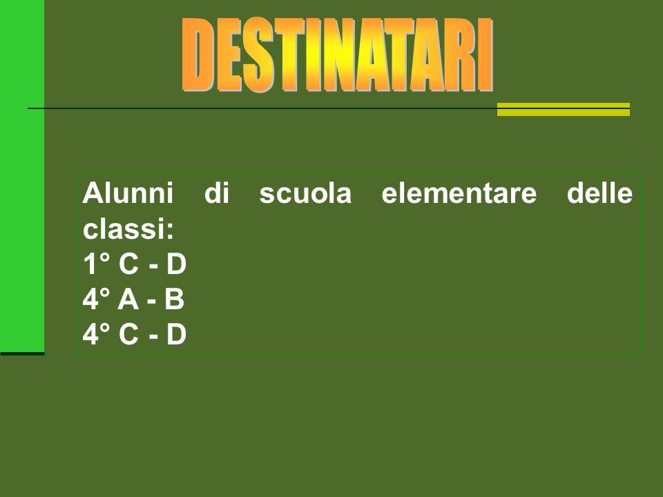 Alunni di scuola elementare delle classi: 1° C - D 4° A - B 4° C - D