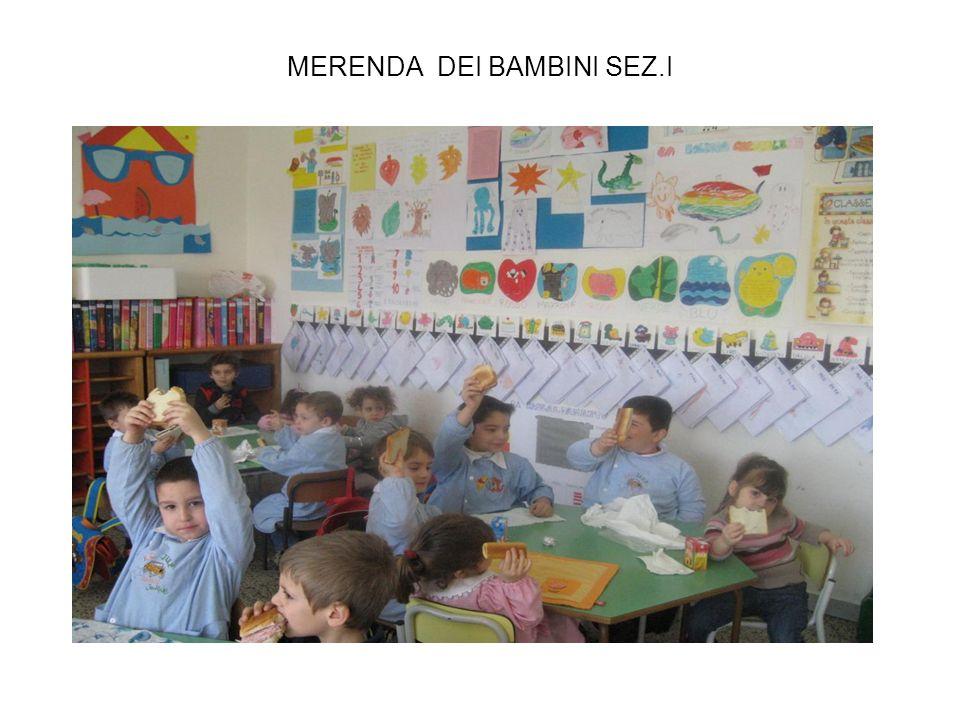 MERENDA DEI BAMBINI SEZ.I