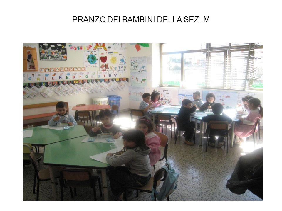 PRANZO DEI BAMBINI DELLA SEZ. M