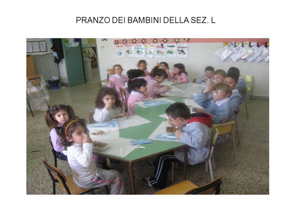 PRANZO DEI BAMBINI DELLA SEZ. L
