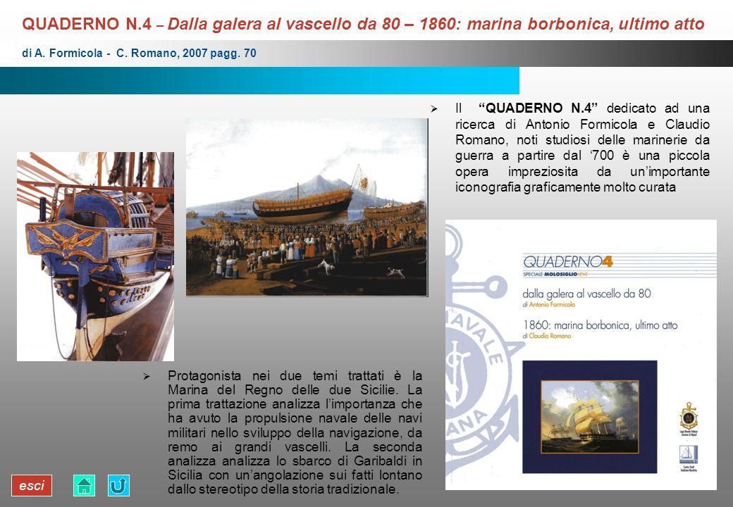 esci QUADERNO N.4 – Dalla galera al vascello da 80 – 1860: marina borbonica, ultimo atto Protagonista nei due temi trattati è la Marina del Regno dell