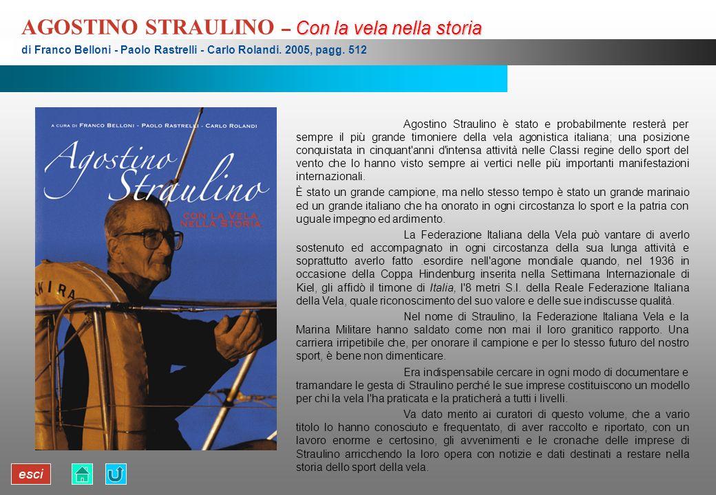 esci Con la vela nella storia AGOSTINO STRAULINO – Con la vela nella storia di Franco Belloni - Paolo Rastrelli - Carlo Rolandi. 2005, pagg. 512 Agost