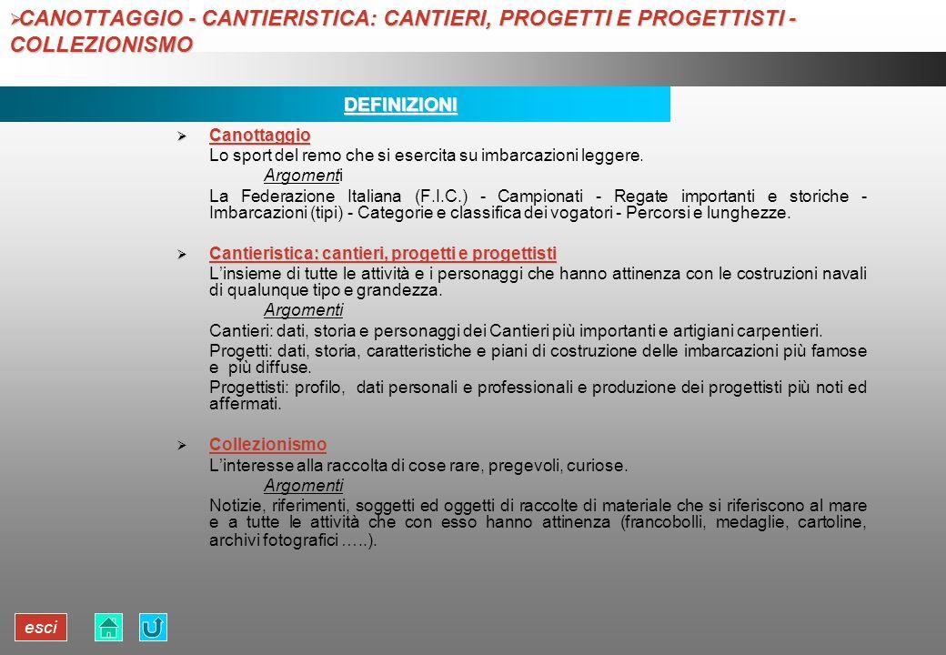 esci CANOTTAGGIO - CANTIERISTICA: CANTIERI, PROGETTI E PROGETTISTI - COLLEZIONISMO CANOTTAGGIO - CANTIERISTICA: CANTIERI, PROGETTI E PROGETTISTI - COL