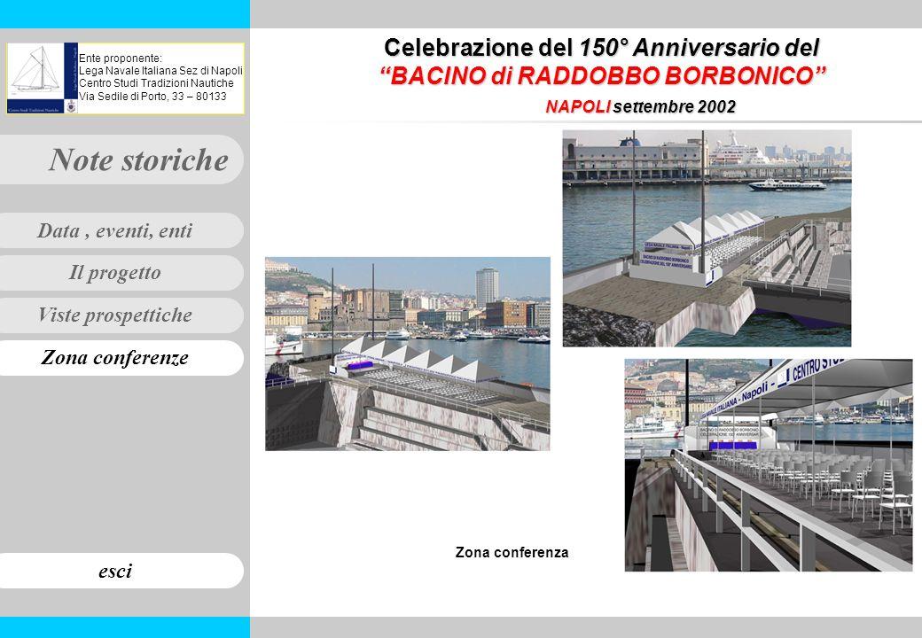 Viste prospettiche Zona conferenze Il progetto Note storiche esci Data, eventi, enti Ente proponente: Lega Navale Italiana Sez di Napoli Centro Studi