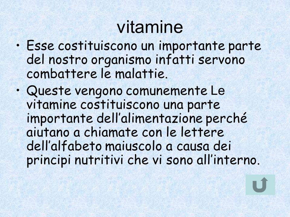 vitamine Esse costituiscono un importante parte del nostro organismo infatti servono combattere le malattie. Queste vengono comunemente Le vitamine co