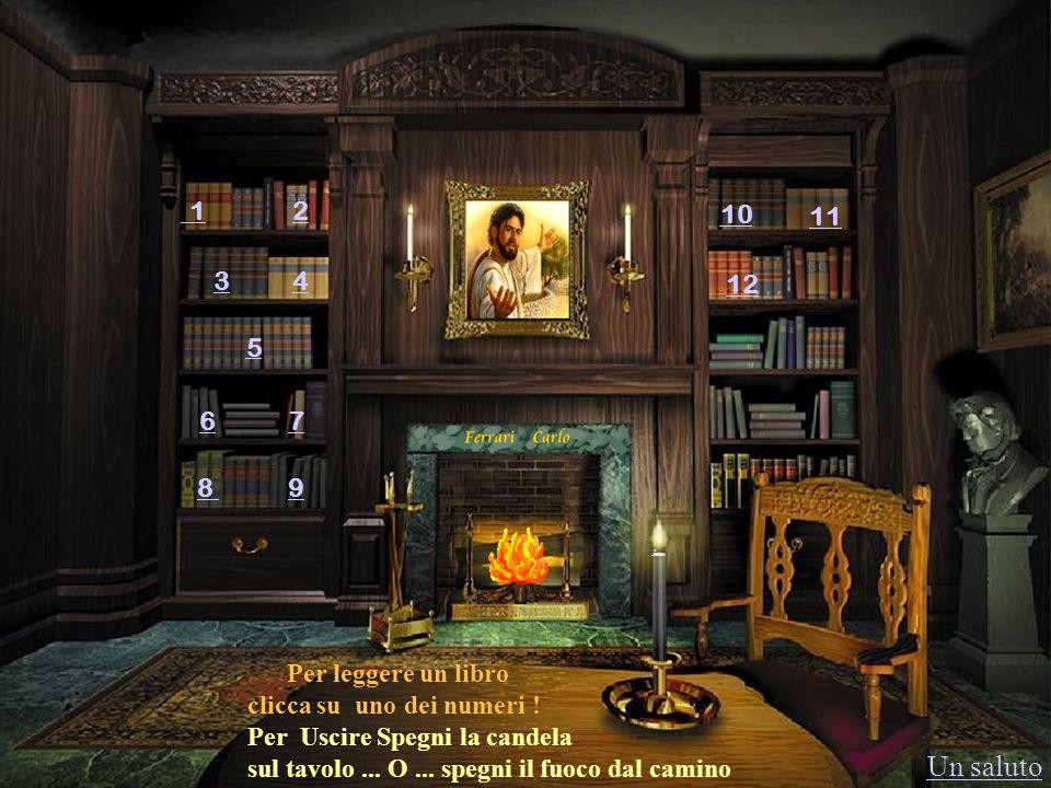 1 2 3 4 5 6 7 89 10 11. 12 Per leggere un libro clicca su uno dei numeri ! Per Uscire Spegni la candela sul tavolo... O... spegni il fuoco dal camino