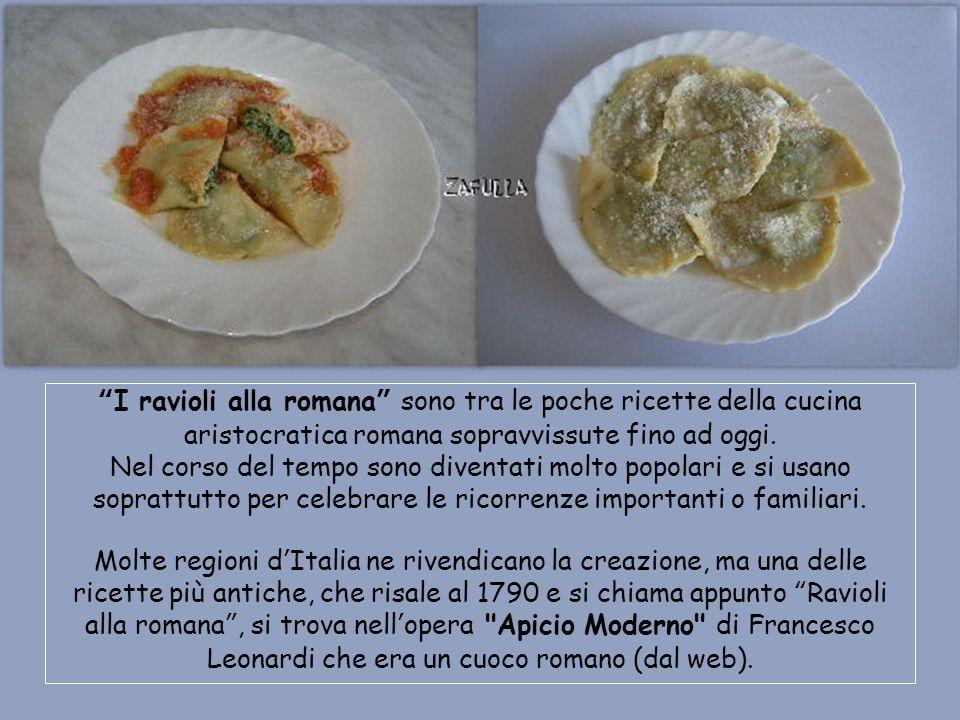Ravioli di ricotta e spinaci -alla romana- Avanzamento con clic del mouse