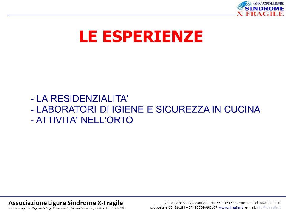 VILLA LANZA – Via Sant Alberto 36 – 16154 Genova – Tel.