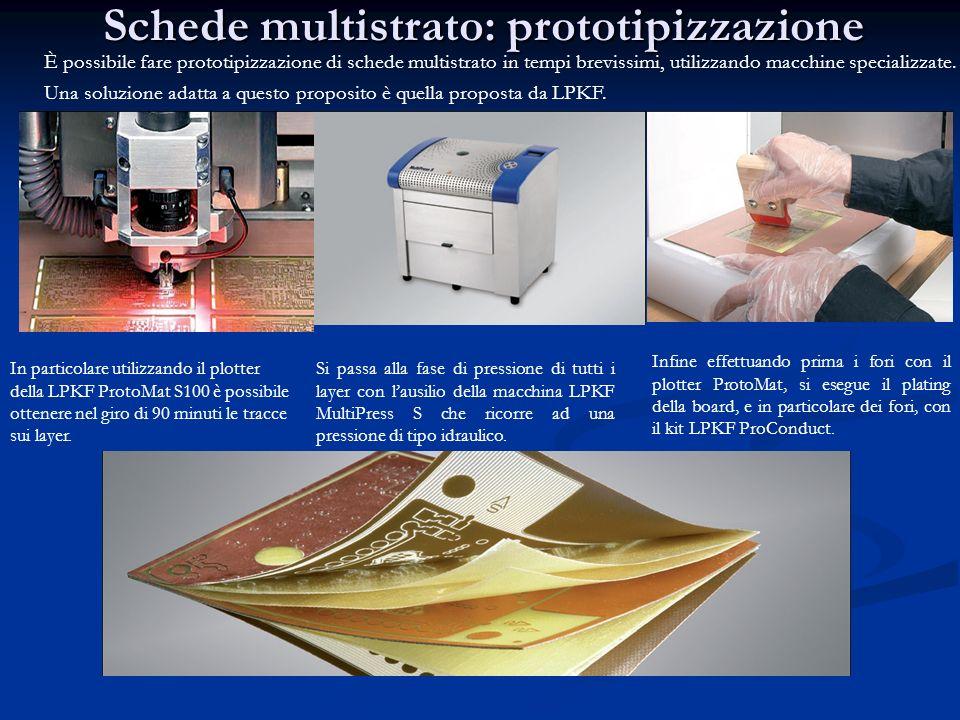 Schede multistrato: prototipizzazione È possibile fare prototipizzazione di schede multistrato in tempi brevissimi, utilizzando macchine specializzate