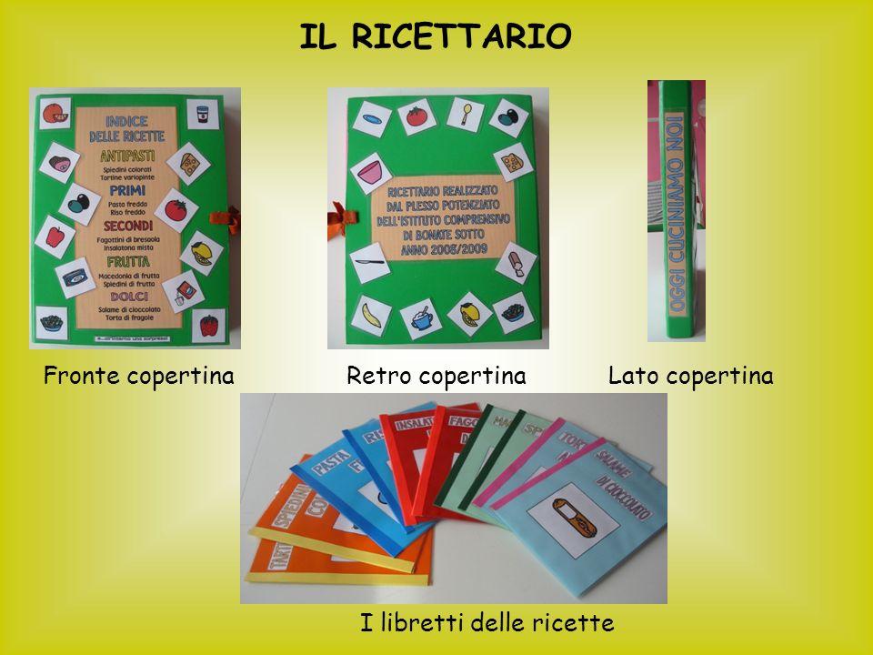 IL RICETTARIO Fronte copertinaRetro copertinaLato copertina I libretti delle ricette