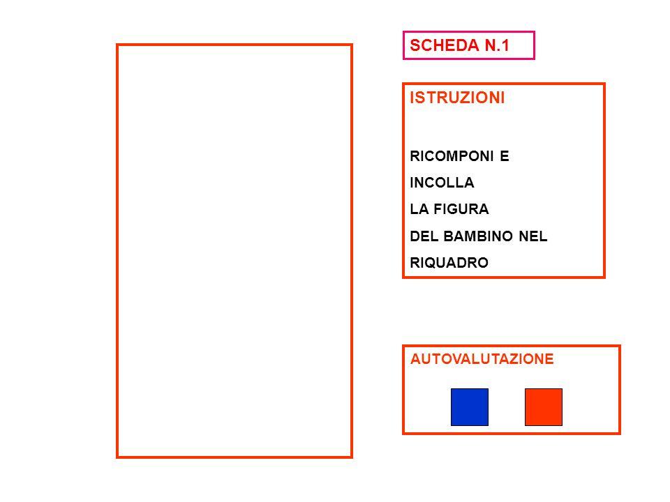 ISTRUZIONI RICOMPONI E INCOLLA LA FIGURA DEL BAMBINO NEL RIQUADRO AUTOVALUTAZIONE SCHEDA N.1