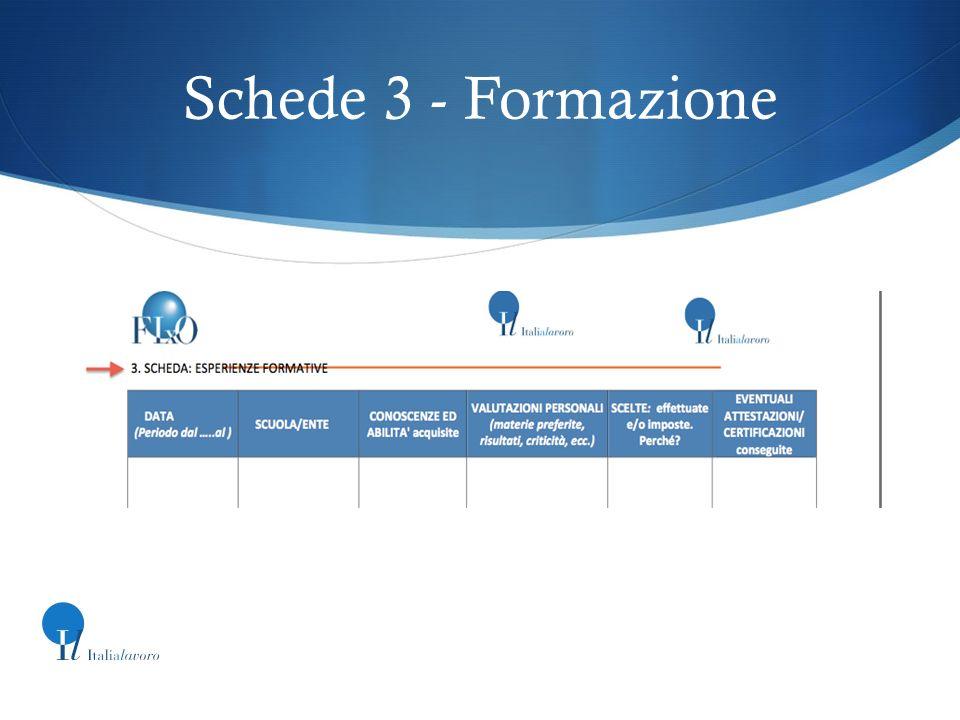 Schede 3 - Formazione