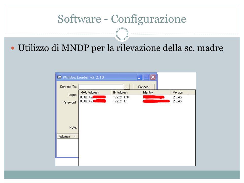 Software - Configurazione Utilizzo di MNDP per la rilevazione della sc. madre