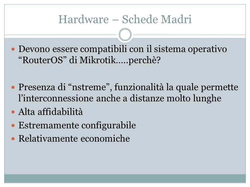 Hardware – Schede Madri Devono essere compatibili con il sistema operativo RouterOS di Mikrotik…..perchè.