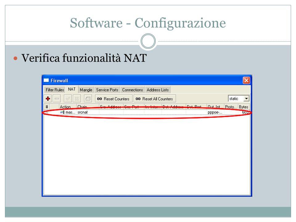 Software - Configurazione Verifica funzionalità NAT