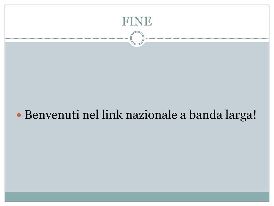 FINE Benvenuti nel link nazionale a banda larga!