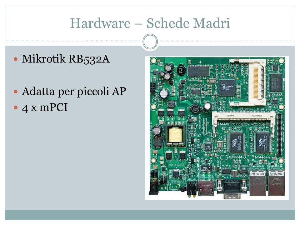 Hardware – Schede Madri Mikrotik RB333 Adatta come AP Alte performance 3 x mPCI