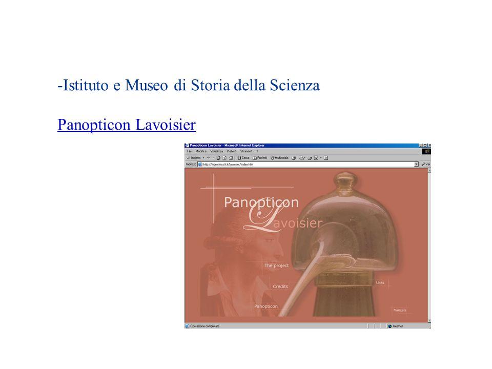 -Istituto e Museo di Storia della Scienza Panopticon Lavoisier