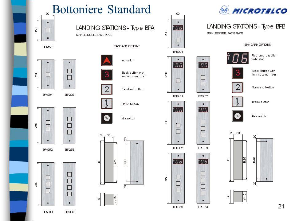 21 Bottoniere Standard