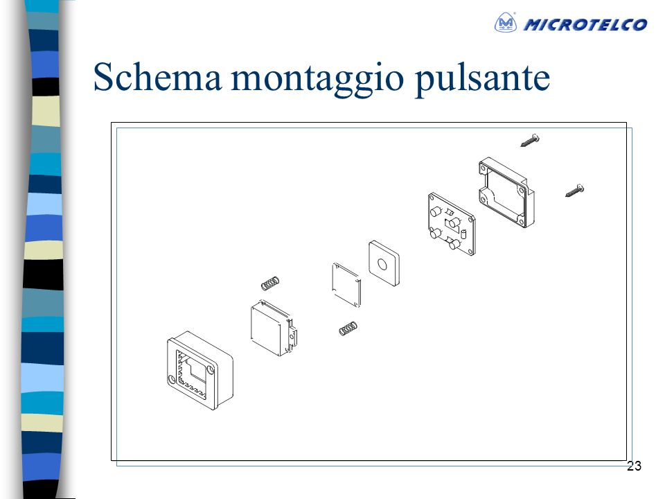 22 Pulsanti Dimensioni (mm) ABCDEF 37.444.52445Varies3 Materiali plalam / acciaio scotch/brite.