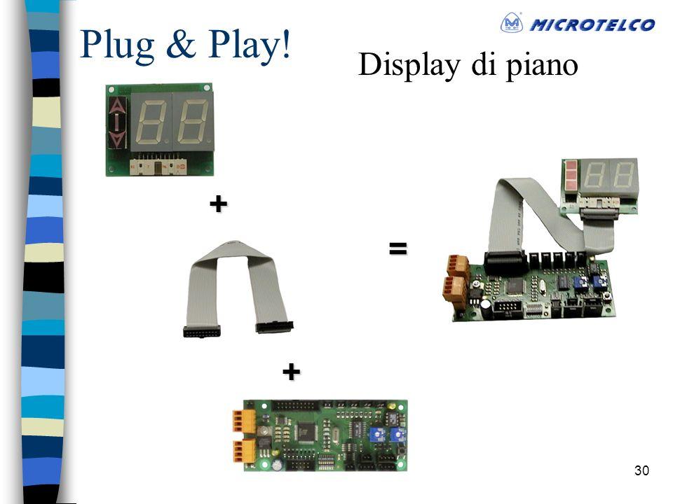 30 Plug & Play! Display di piano+ + =
