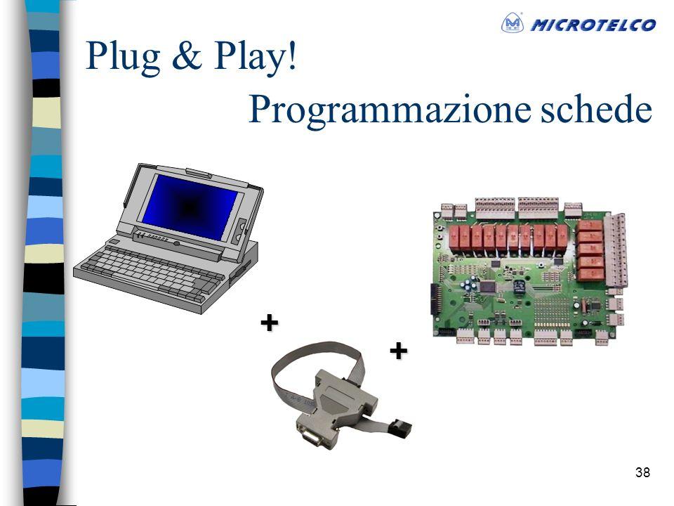 38 Programmazione schede + + Plug & Play!