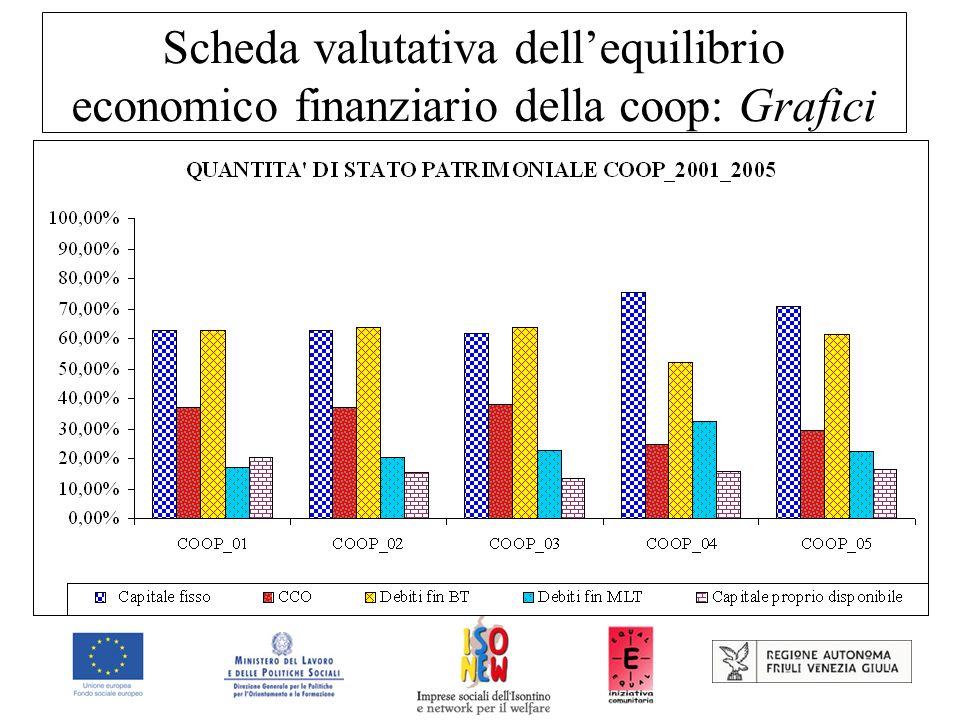 Scheda valutativa dellequilibrio economico finanziario della coop: Grafici
