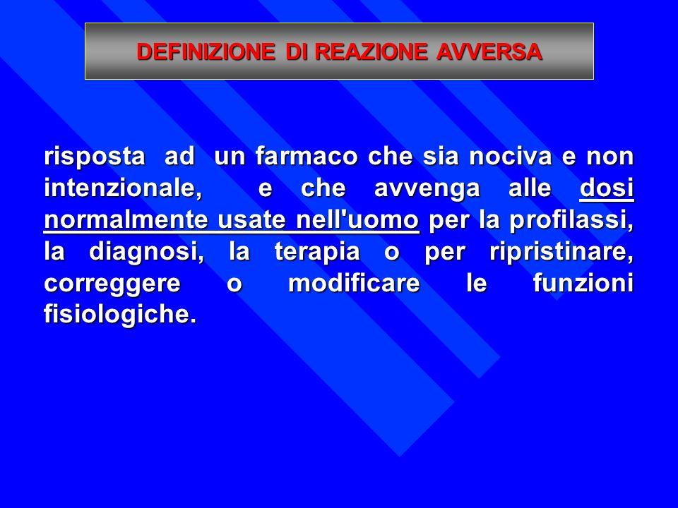 Con Decreto Ministeriale del 12-12-2003 è stata istituita la Scheda unica di segnalazione di reazione avversa a farmaci e a vaccini.