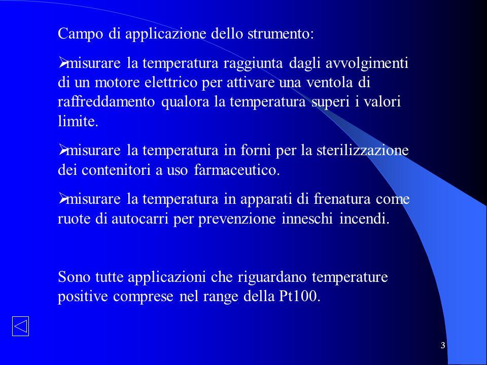 3 Campo di applicazione dello strumento: misurare la temperatura raggiunta dagli avvolgimenti di un motore elettrico per attivare una ventola di raffr