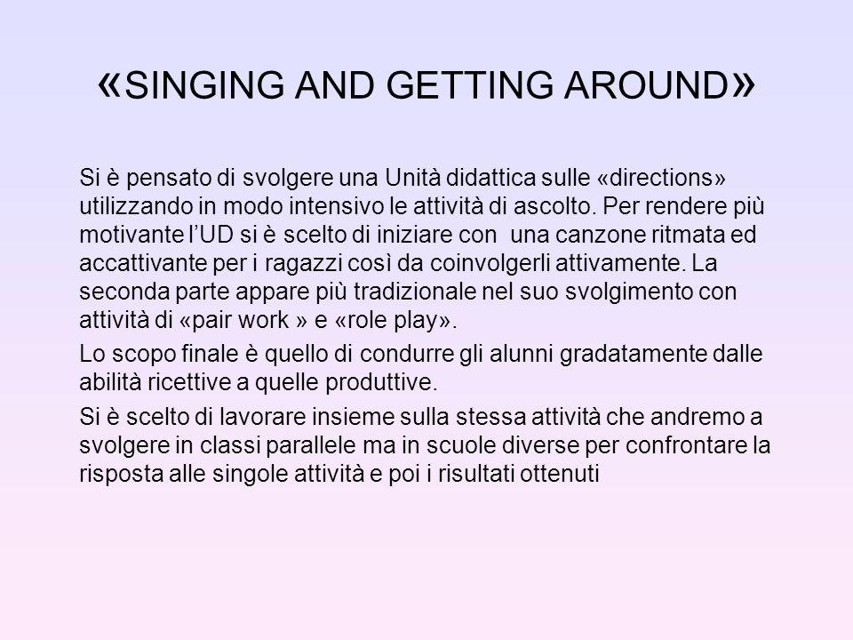 « SINGING AND GETTING AROUND » Si è pensato di svolgere una Unità didattica sulle «directions» utilizzando in modo intensivo le attività di ascolto.
