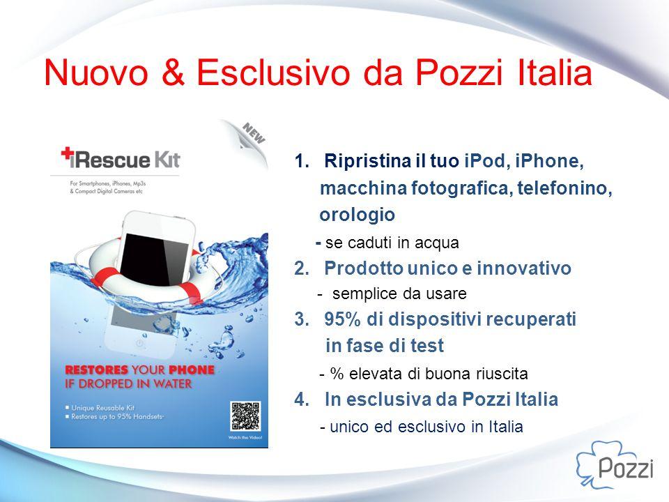 Nuovo & Esclusivo da Pozzi Italia 1. Ripristina il tuo iPod, iPhone, macchina fotografica, telefonino, orologio - se caduti in acqua 2. Prodotto unico