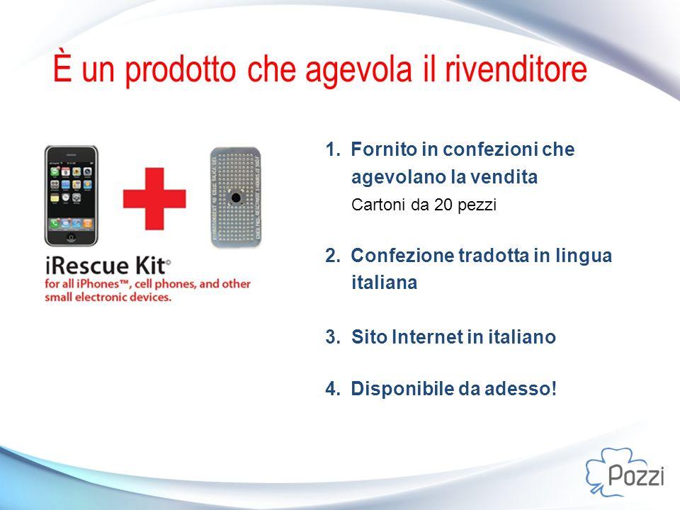 È un prodotto che agevola il rivenditore 1.Fornito in confezioni che agevolano la vendita Cartoni da 20 pezzi 2.Confezione tradotta in lingua italiana 3.