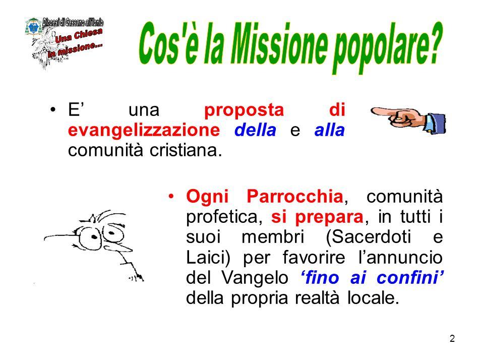 2 E una proposta di evangelizzazione della e alla comunità cristiana. Ogni Parrocchia, comunità profetica, si prepara, in tutti i suoi membri (Sacerdo
