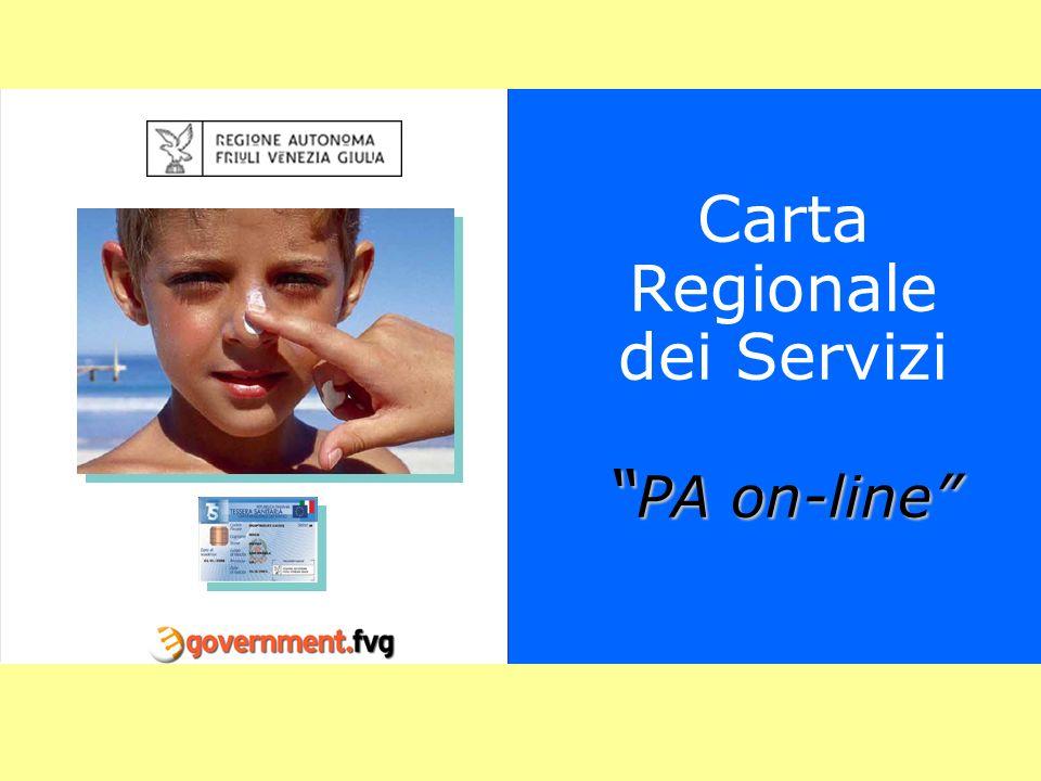 PA on-line Carta Regionale dei Servizi PA on-line