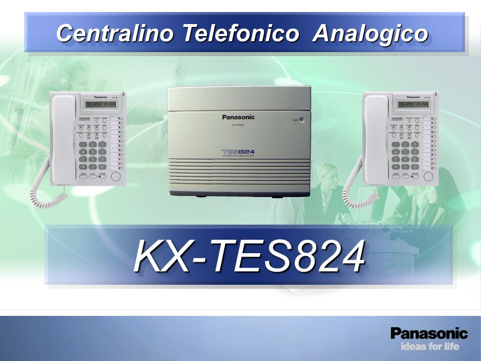 KX-TES824 – Start Up Centrale PRIMO AVVIAMENTO DEL CENTRALINO Switch OFF Switch ON Posizionare Interruttore su CLEAR Aliment.