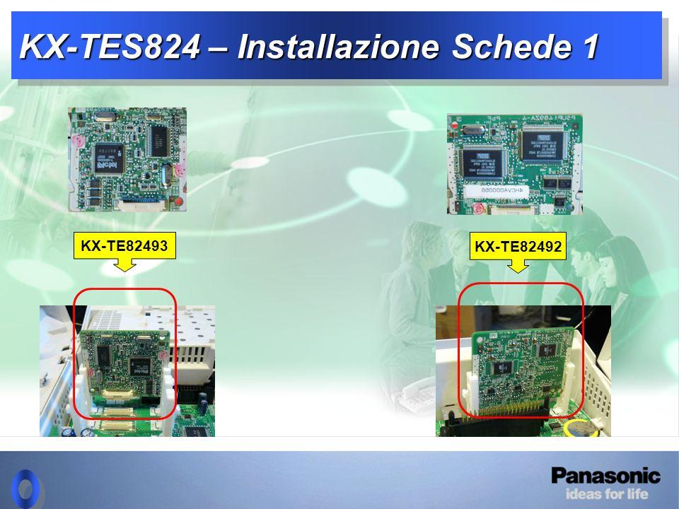 KX-TES824 – Installazione Schede 1 KX-TE82493 KX-TE82492