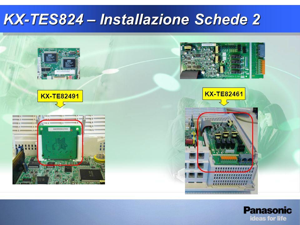 KX-TES824 – Installazione Schede 2 KX-TE82461 KX-TE82491