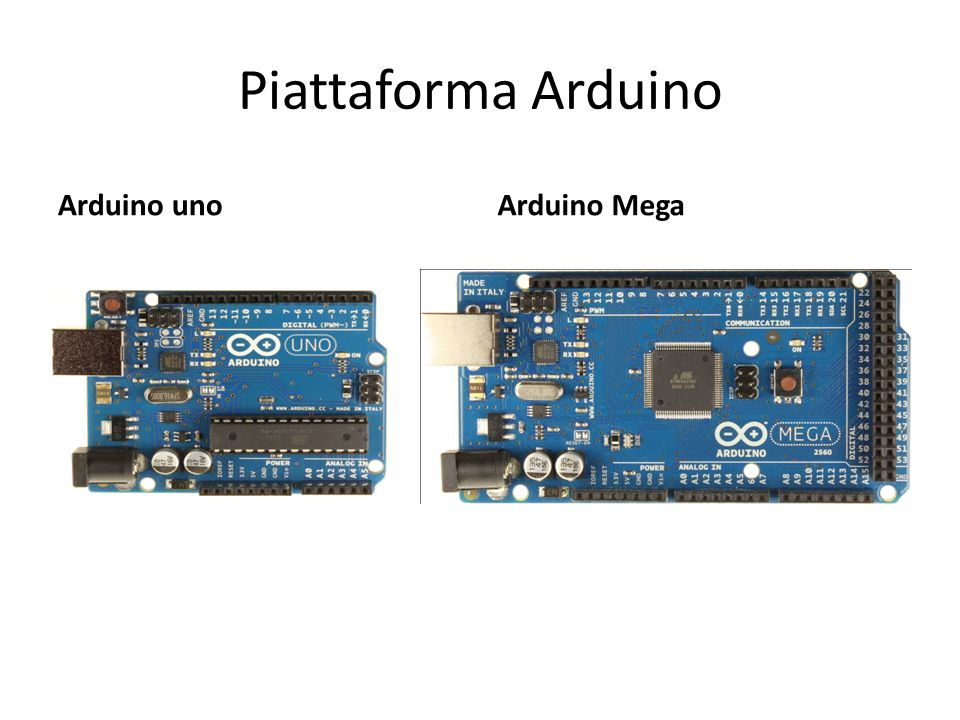Piattaforma Arduino Arduino unoArduino Mega