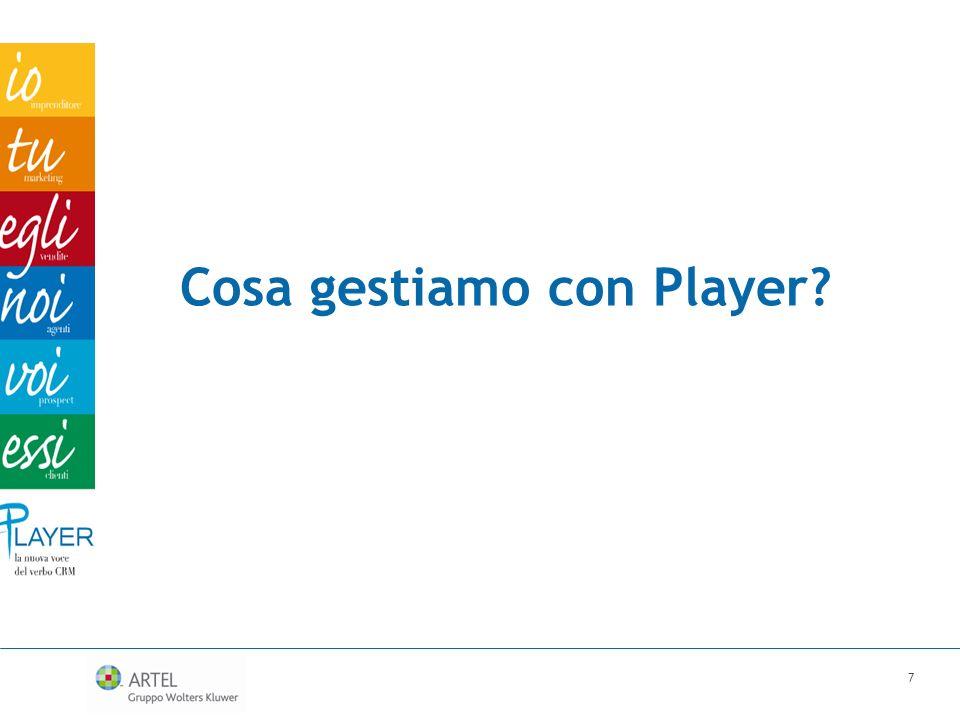 Cosa gestiamo con Player? 7