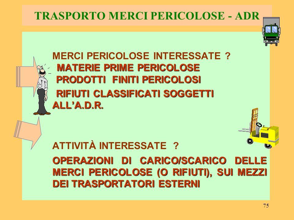 76 TRASPORTO MERCI PERICOLOSE - ADR PRICIPI FONDAMENTALI DELLA.D.R.