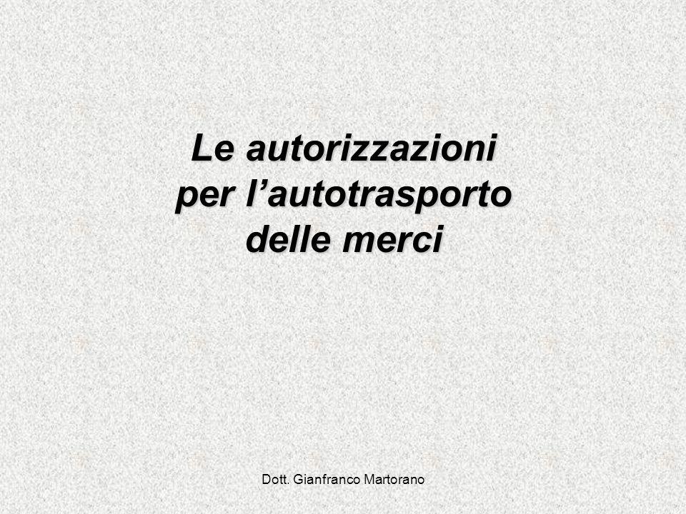 Dott. Gianfranco Martorano DOCUMENTI EQUIVALENTI
