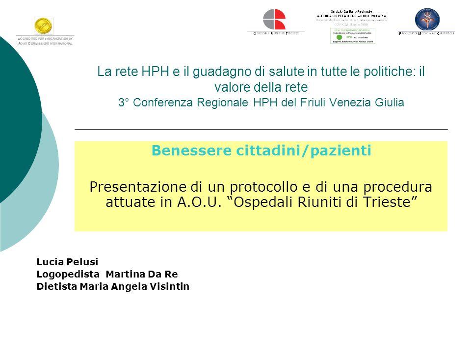 La rete HPH e il guadagno di salute in tutte le politiche: il valore della rete 3° Conferenza Regionale HPH del Friuli Venezia Giulia Benessere cittad