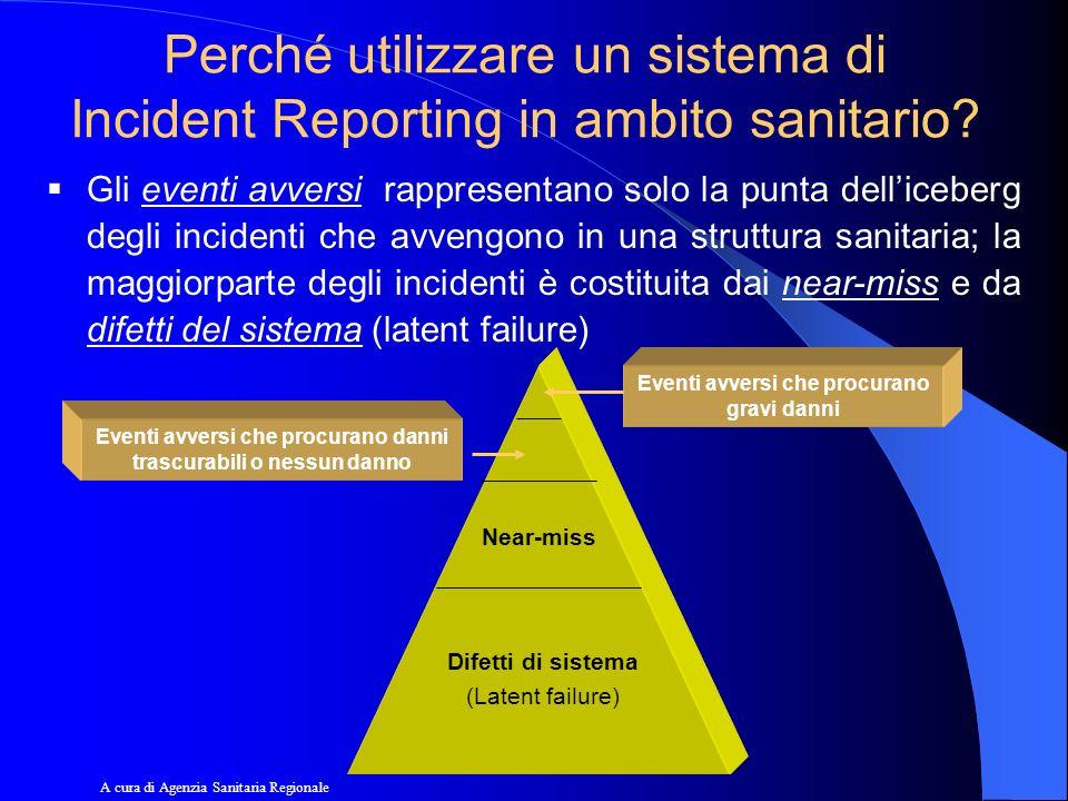 Perché utilizzare un sistema di Incident Reporting in ambito sanitario? Gli eventi avversi rappresentano solo la punta delliceberg degli incidenti che