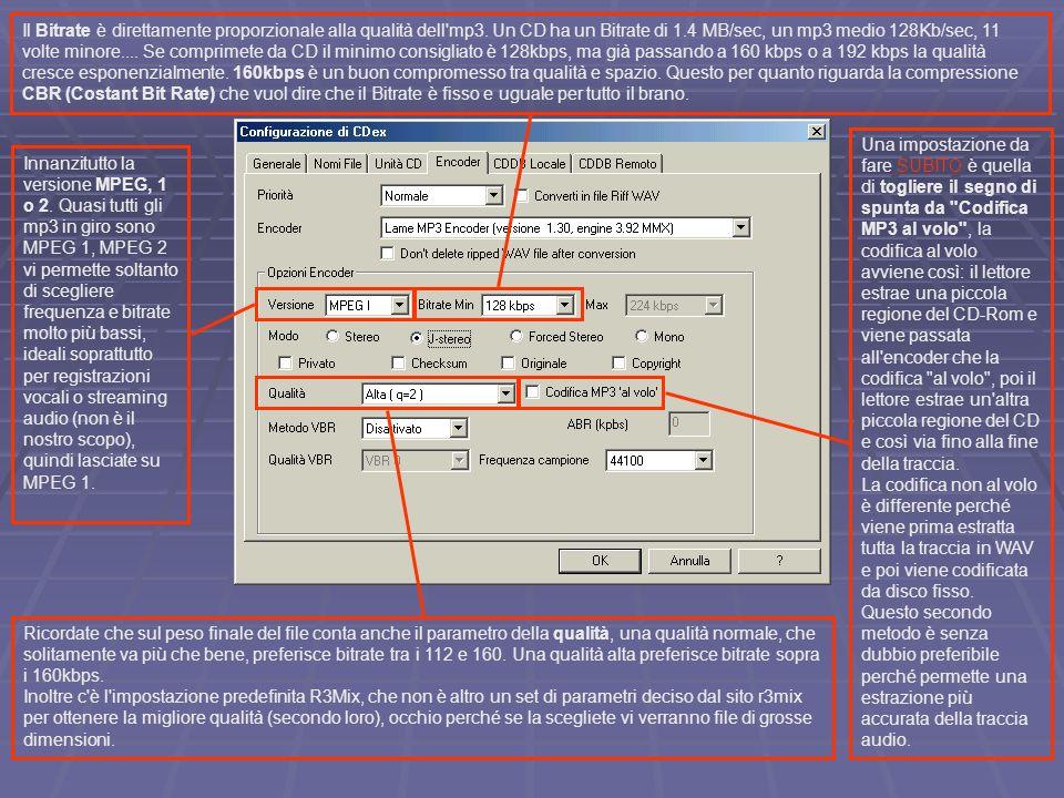 Innanzitutto la versione MPEG, 1 o 2.