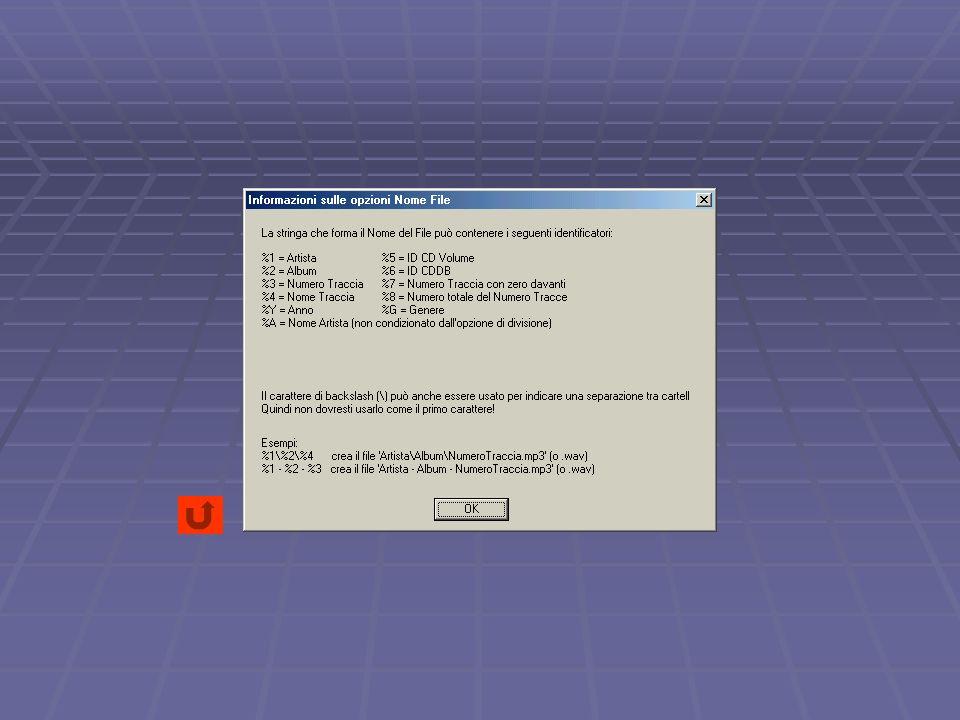 Selezionate la scheda Unità CD Scegliete dal pannello l unità CD (o DVD) da usare.