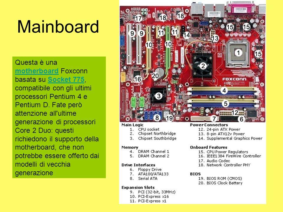 Questa è una motherboard Foxconn basata su Socket 775, compatibile con gli ultimi processori Pentium 4 e Pentium D. Fate però attenzione all'ultime ge