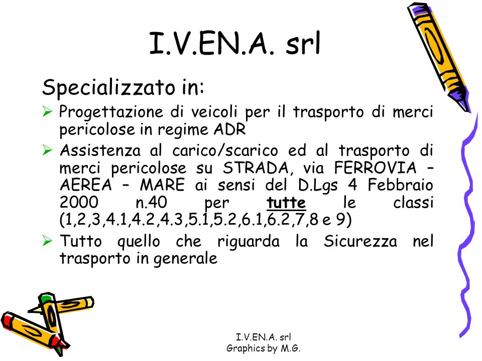 I.V.EN.A.srl Graphics by M.G. I.V.EN.A.