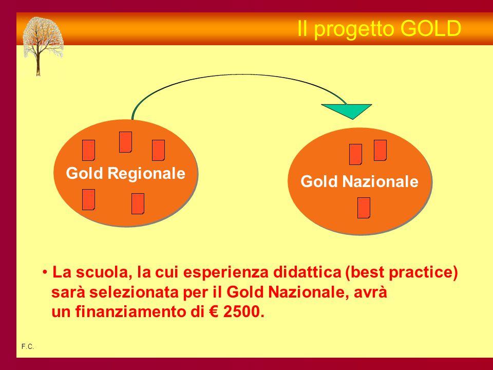 F.C. Gold Nazionale Il progetto GOLD Gold Regionale La scuola, la cui esperienza didattica (best practice) sarà selezionata per il Gold Nazionale, avr